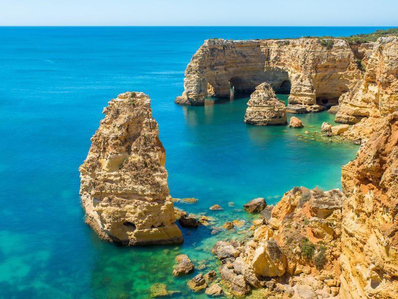 Praia da Marinha in Algarve, Portugal