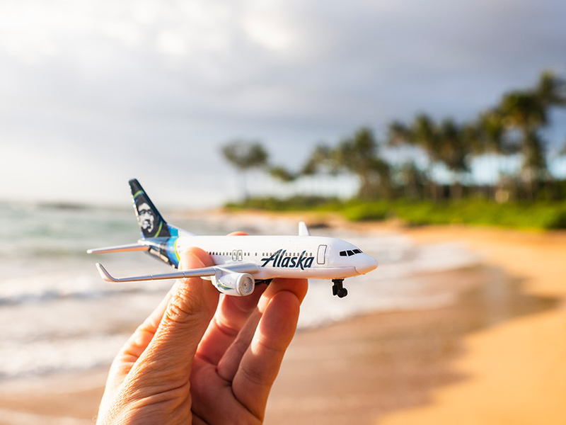 Toy of Alaska Airlines aircraft