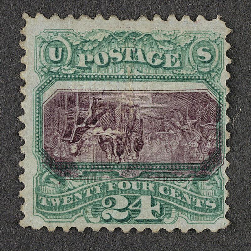 Inverted Declaration of Independence 1869 Stamp