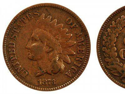 1873 Indian Head Cent (Closed 3) is a valuable penny