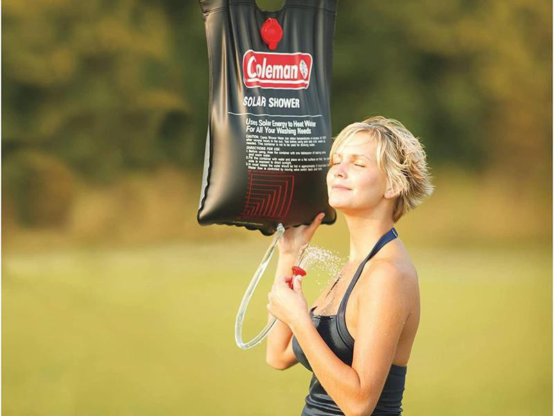 Solar shower for camping