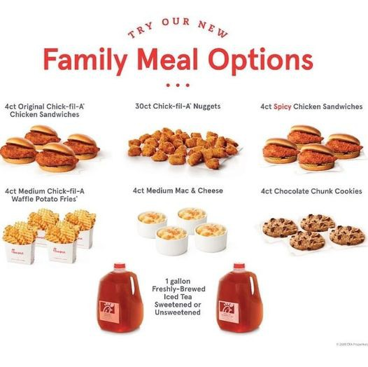 Chick-Fil-A Family Meal Options