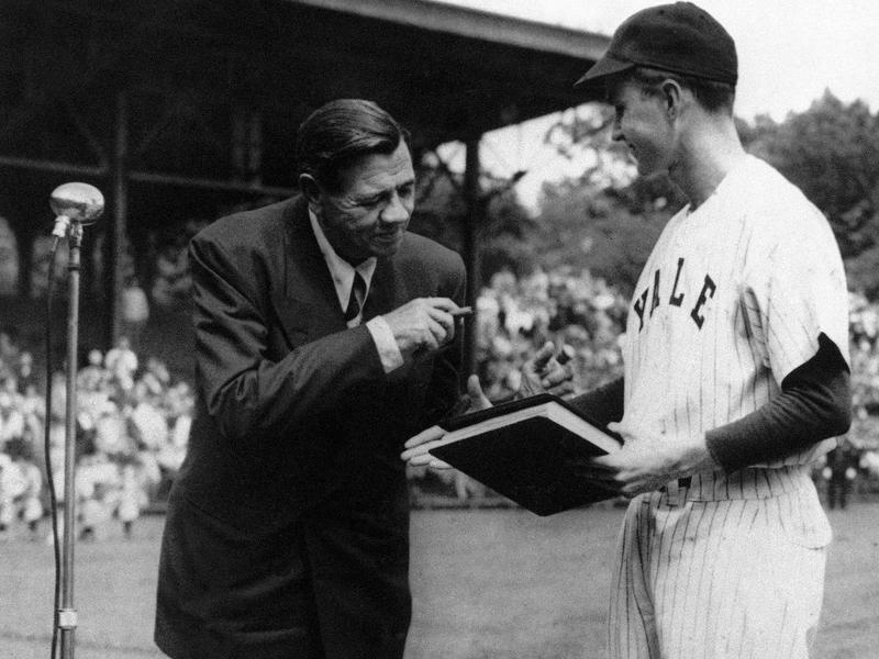 George H. W. Bush and Babe Ruth