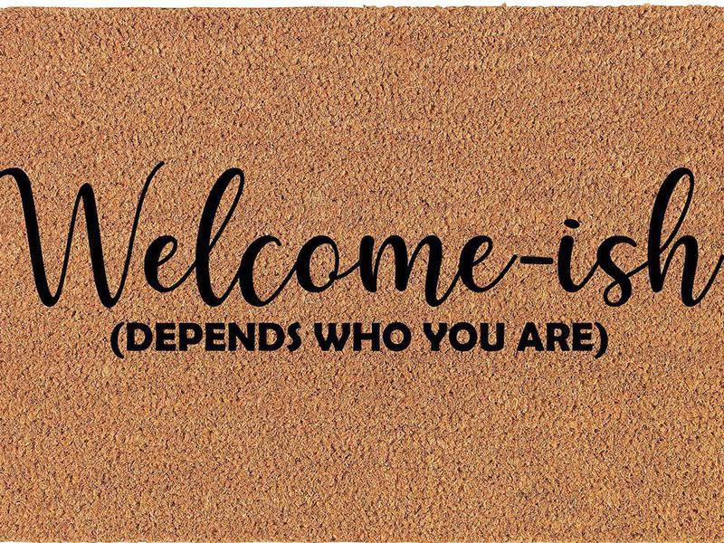 Funny welcome doormat