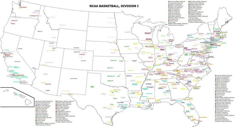 Division I basketball teams