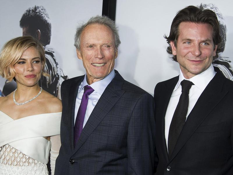 Sienna Miller, Clint Eastwood and Bradley Cooper