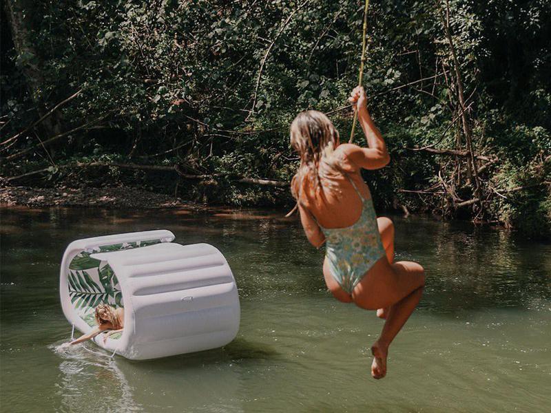 Tropical Bali Cabana Lounger