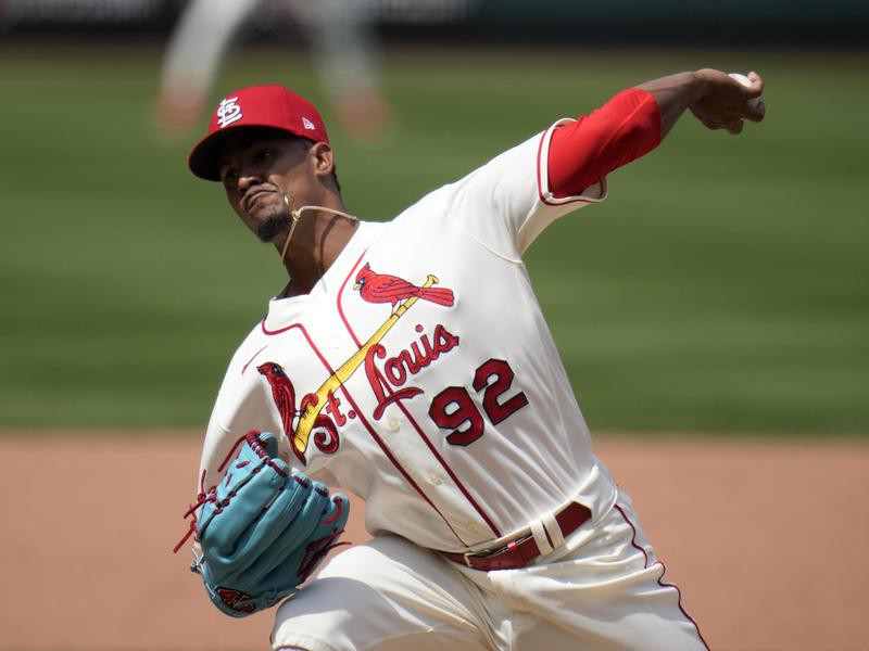 St. Louis Cardinals relief pitcher Genesis Cabrera throws during sixth inning