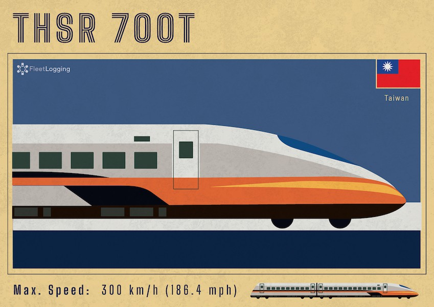 Taiwan High-Speed Railway 700T model