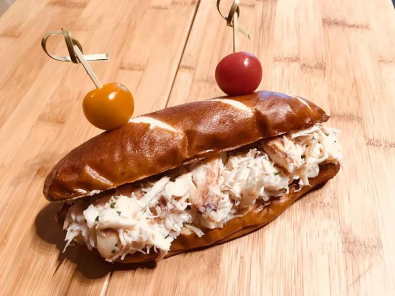 Dungeness Crab Pretzel