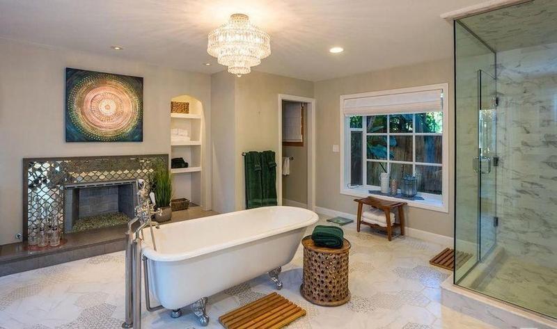 Bathroom in old Malibu house
