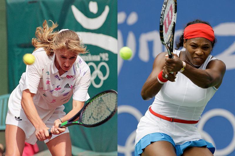 Steffi Graf and Serena Williams