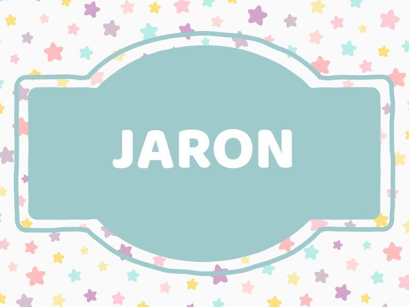 J Name Origins: Jaron