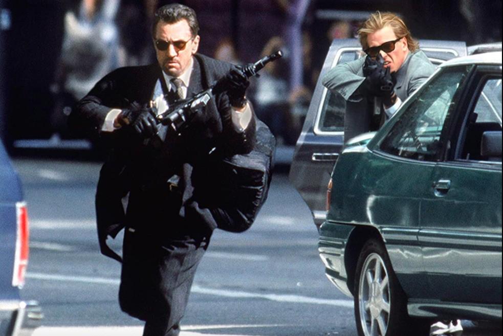 Robert De Niro and Val Kilmer in Heat