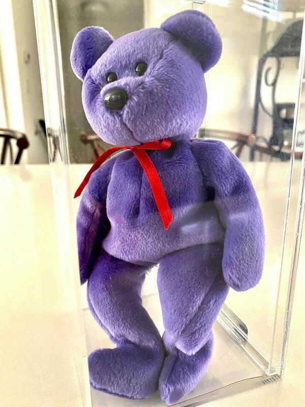 Red Ribbon Violet Employee Teddy