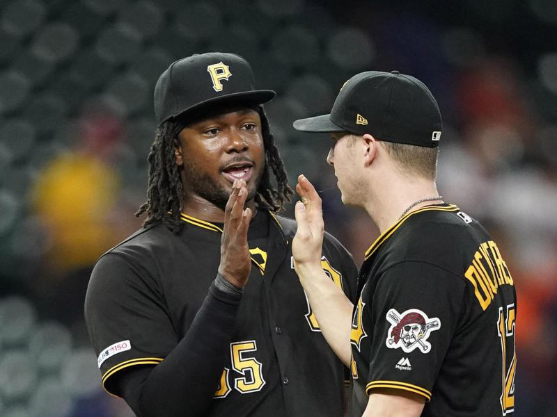 Pittsburgh Pirates Josh Bell and Corey Dickerson