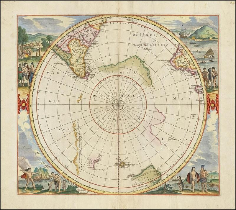 Map of South Pole