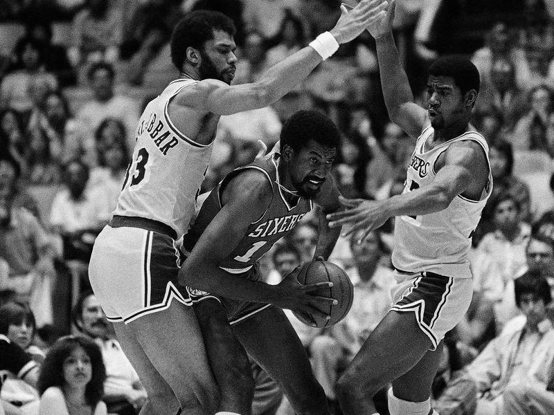 Kareem Abdul-Jabbar and Magic Johnson