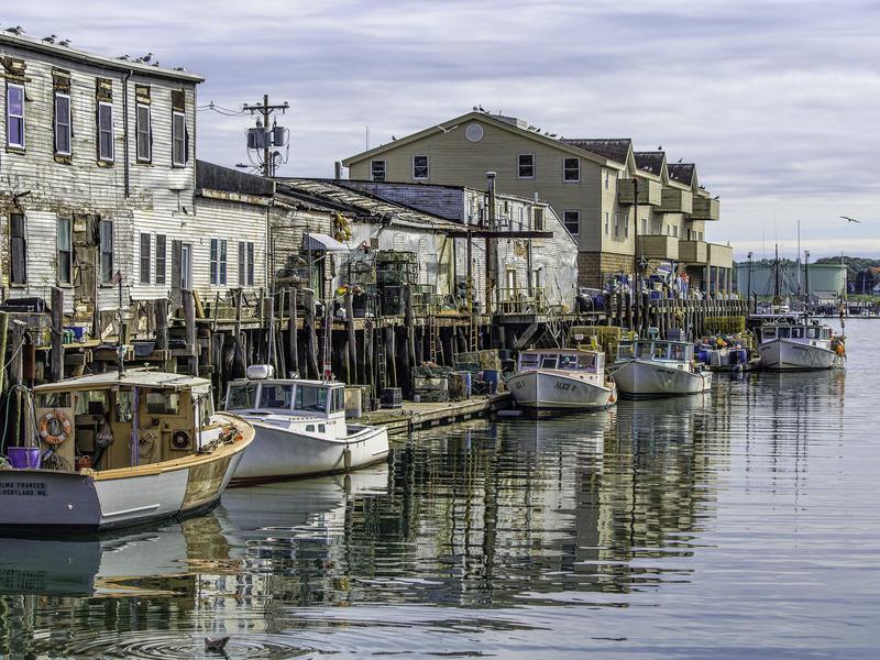 Custom House Wharf in Portland, Maine