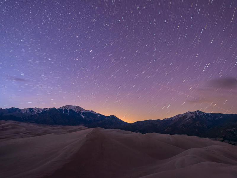 Starry Night at Great Sand Dunes