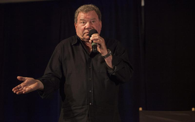 """The judge threw out the first paternity suit against Shatner, shown here at a """"Star Trek"""" convention in Illinois in 2014. However, the man who claims Shatner's his father refiled the suit."""