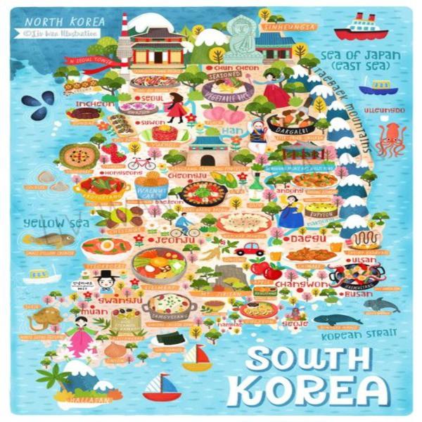 Food map of Korea