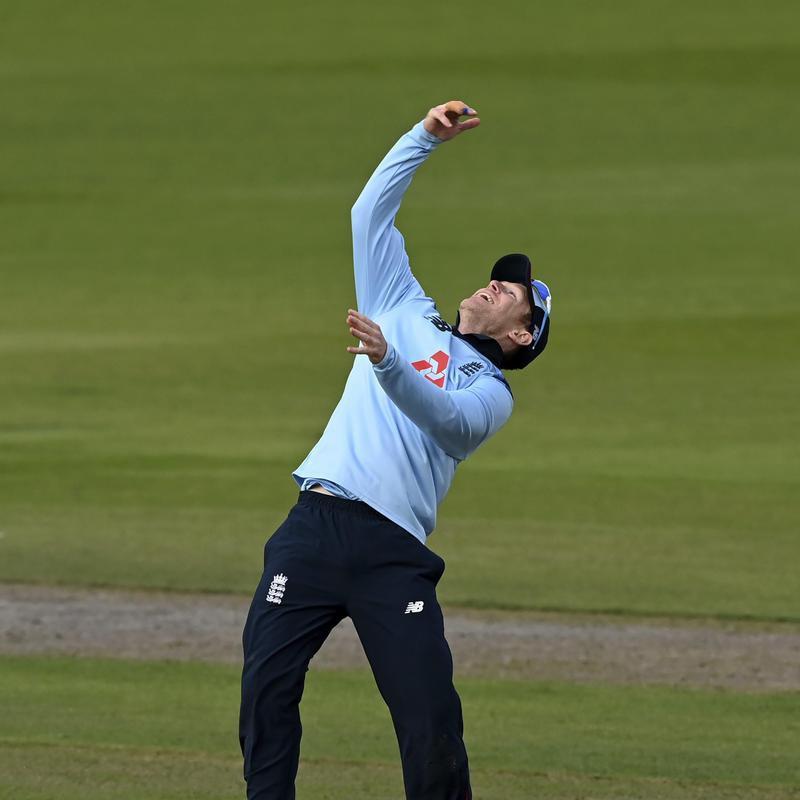 England's captain Eoin Morgan celebrates