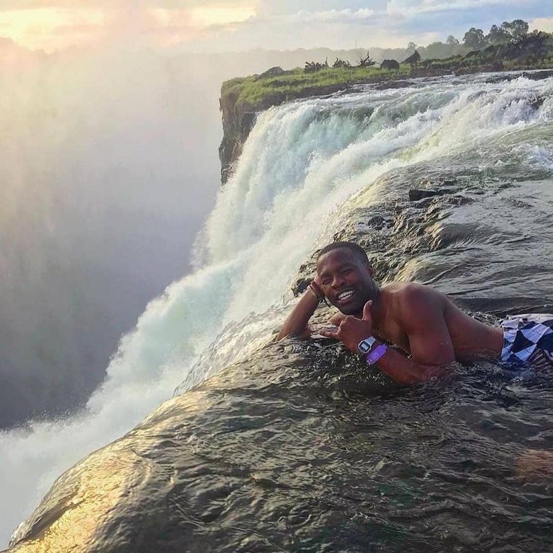 The Devil's Pool in Victoria Falls, Zambia