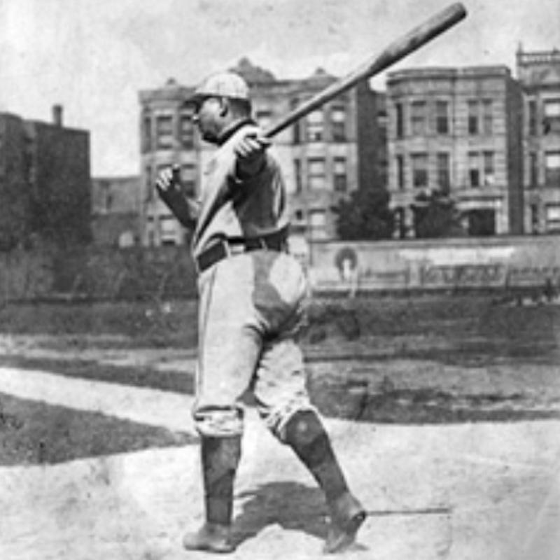Cap Anson swinging the bat