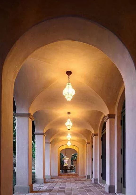 Outdoor arched hallway