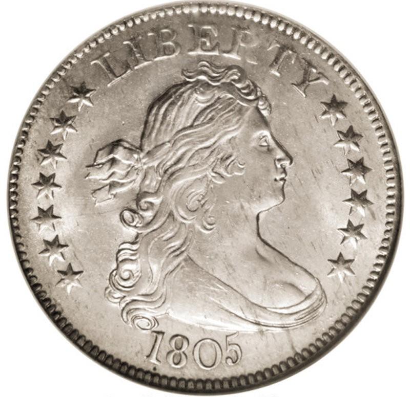 1805 B-2 Draped Bust Quarter