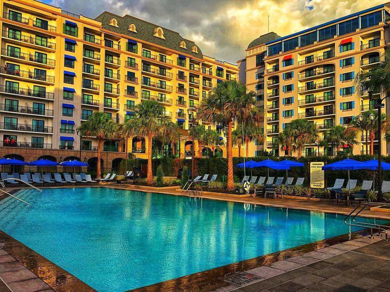 Poolside view at Disney's Riviera Resort