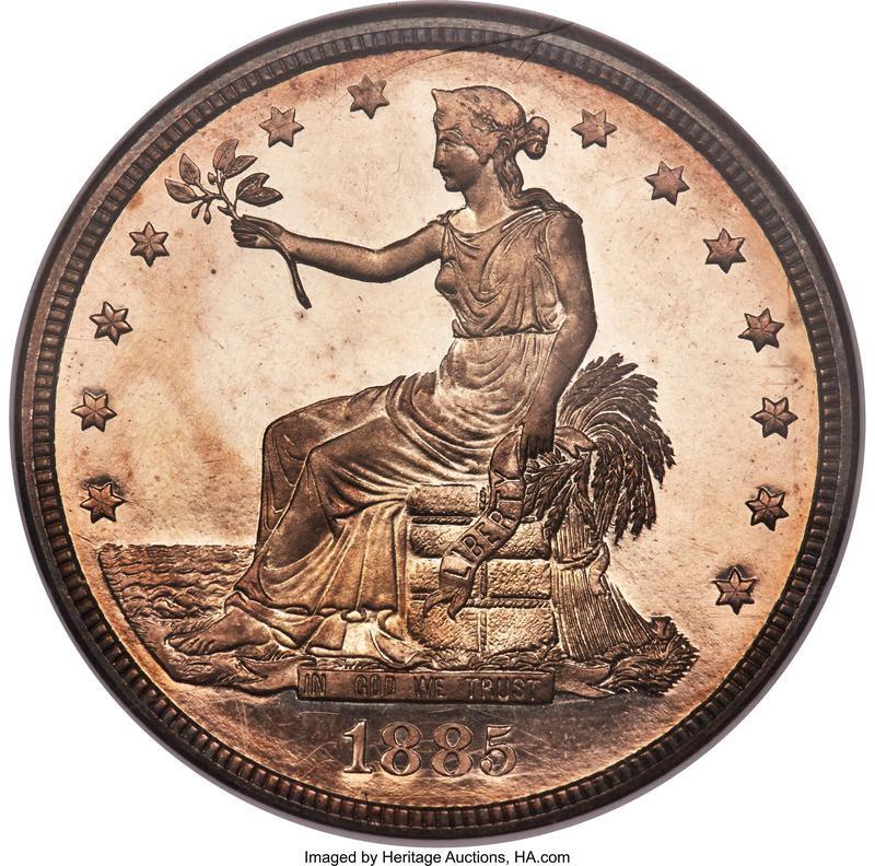 1885 Silver Trade Dollar