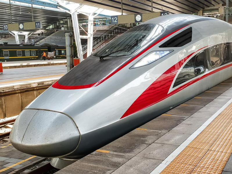 High-speed train in Beijing, China
