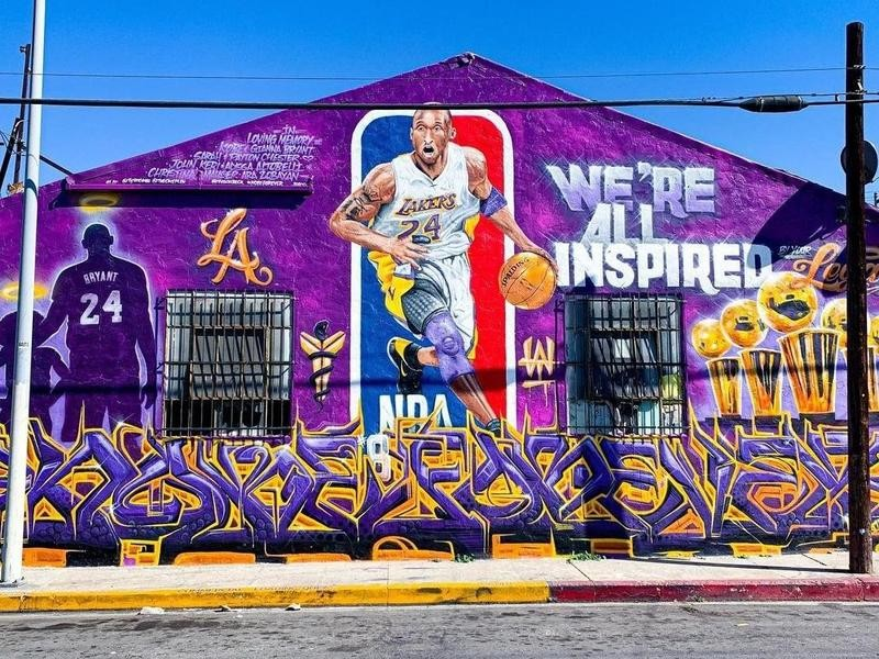 Kobe Bryant mural in Boyle Heights