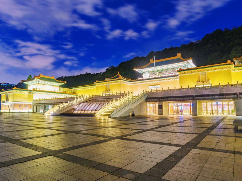 National Palace Museum at night