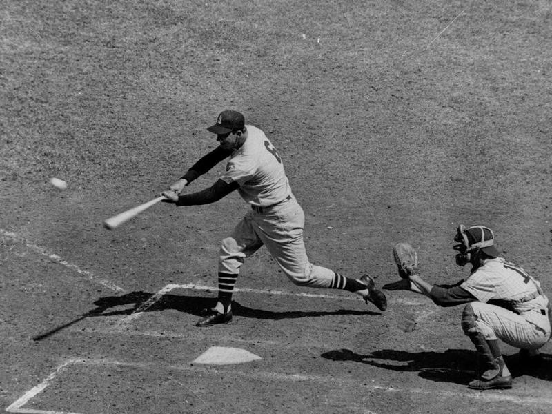 Stan Musial connects for double