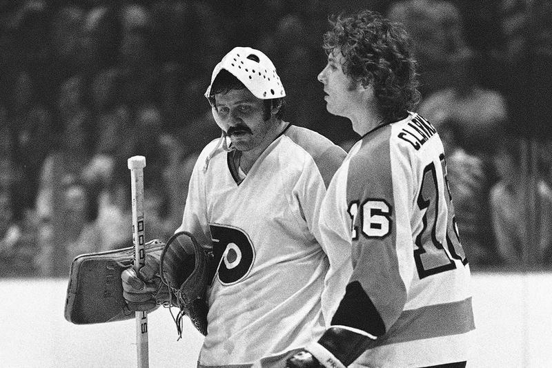 Philadelphia Flyers goalie and team captain Bobby Clarke