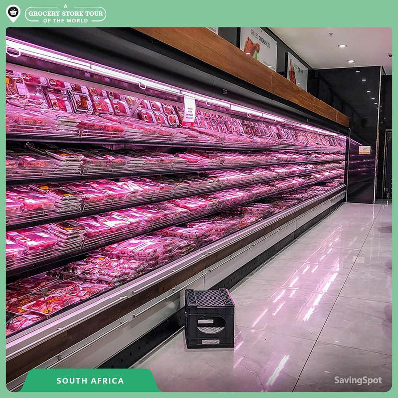 Meat aisle in South Africa