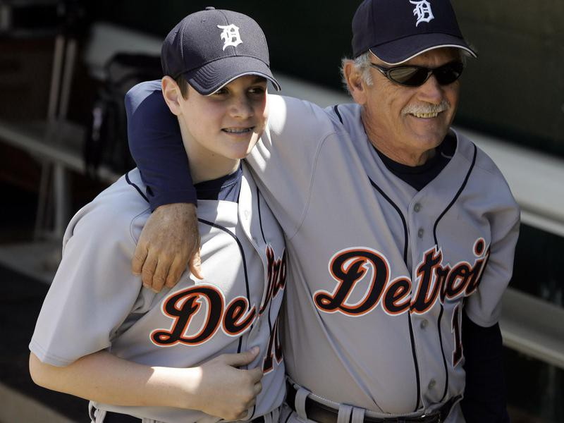 Jim Leyland with son