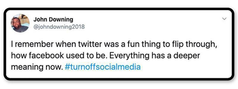 Turn off social media