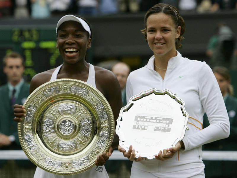 Venus Williams and Lindsay Davenport