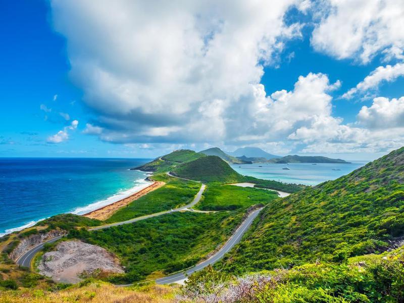 Saint Kitts panoramic view