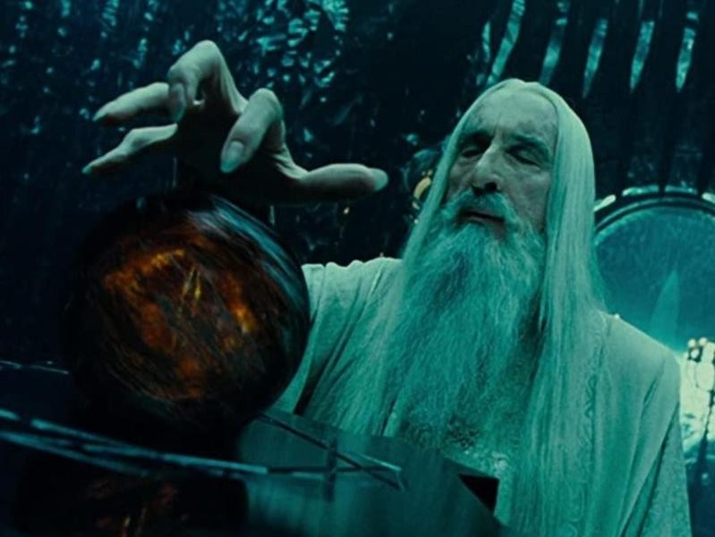 Christopher Lee in The Lord of the Rings