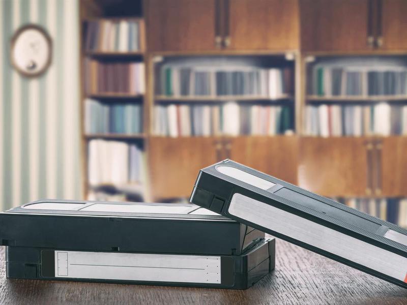 Rewinding a VHS Tape