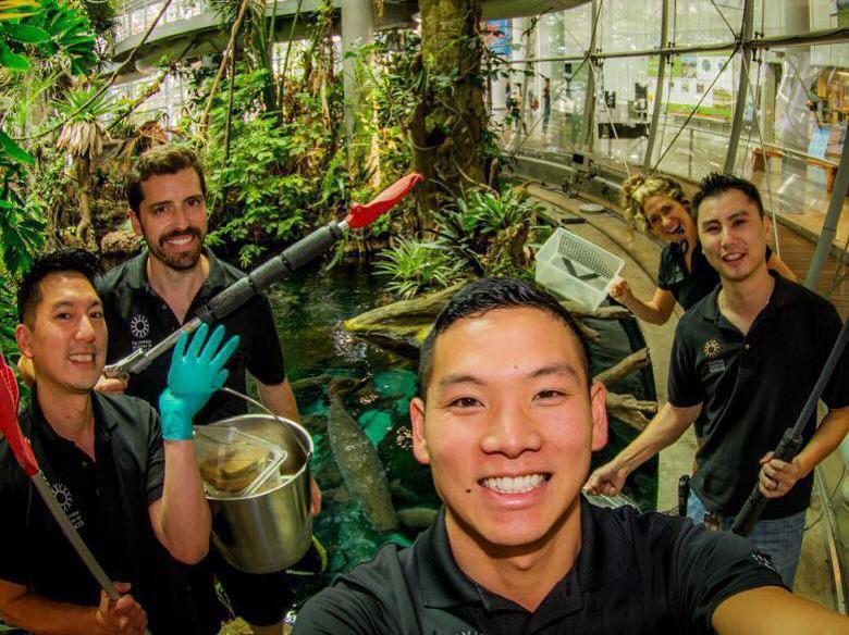 Biologists at the Steinhart Aquarium
