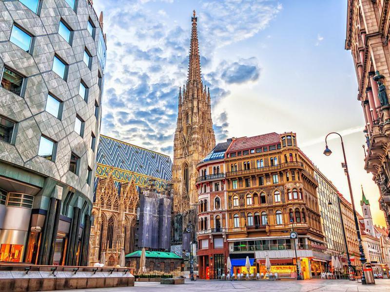 Stephansplatz in Vienna, Austria