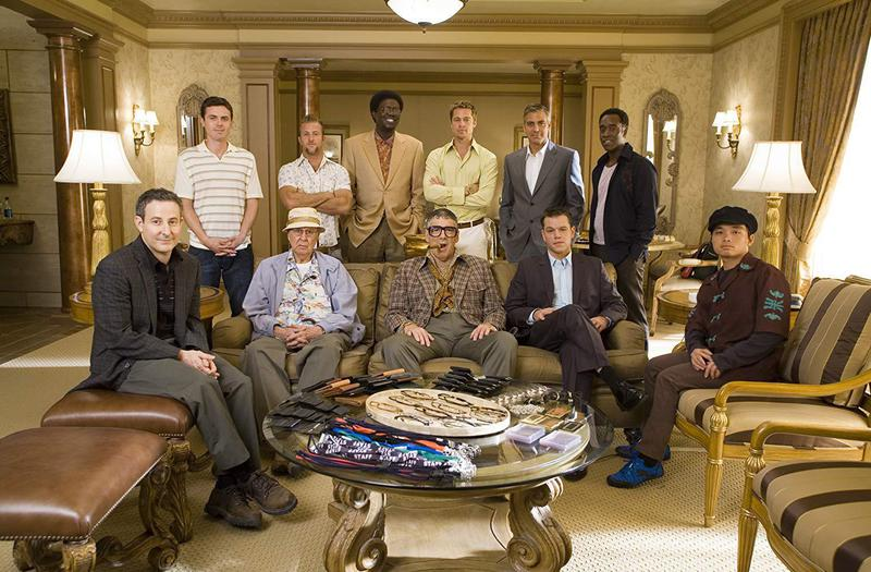"The third installment of the modern-day ""Ocean's"" franchise, ""Ocean's Thirteen"" redeems the self-indulgent mess that is ""Ocean's Twelve."" The cast includes Brad Pitt and George Clooney (back row, second and third from right)."