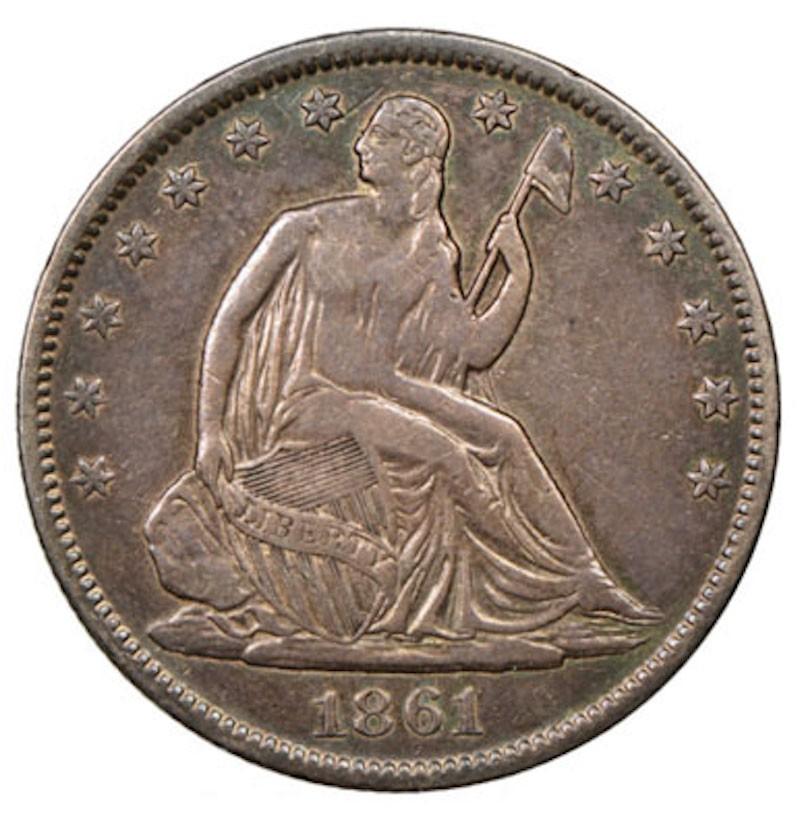 1861 Confederate States of America Half Dollar