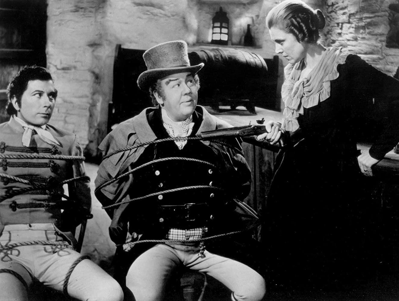 "Charles Laughton, Robert Newton and Marie Ney in ""Jamaica Inn"""
